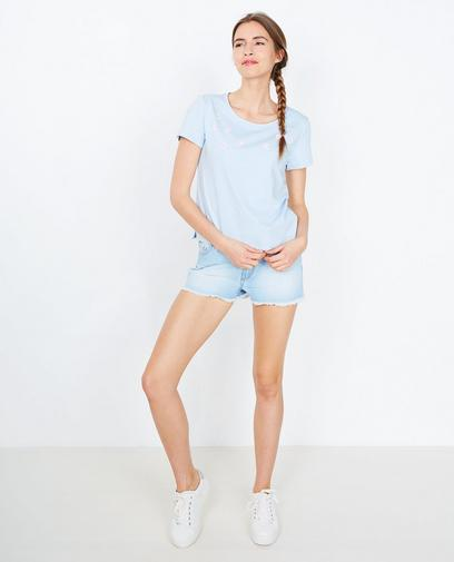 T-shirt bleu clair